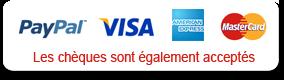 PayPal / Visa / American Express / MasterCard / Les chèques sont également acceptés